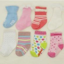 广东外贸欧美儿童袜 BB袜 宝宝袜 彩色防滑Baby袜纯棉袜订做图片