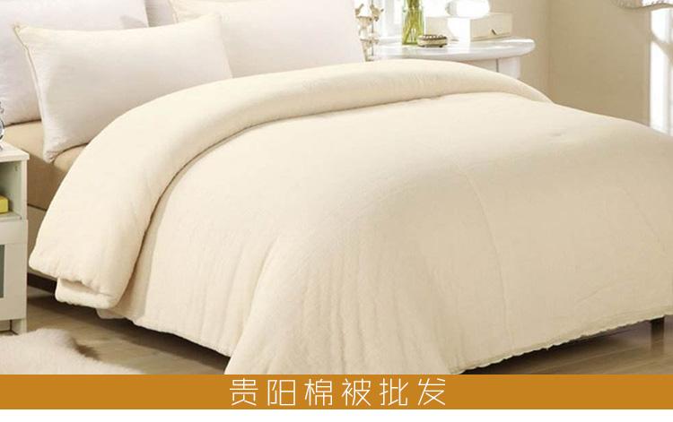 贵阳棉被批发优质新疆棉絮加工100%纯棉棉被被子被芯厂家定制直销