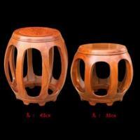新会红木家具厂家批发中式仿古全实木花梨木家具圆凳鼓凳换鞋凳子