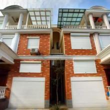 欧式卷帘窗 外遮阳窗 铝合金窗 别墅防盗窗 专业定制安装 南昌明和厂家批发