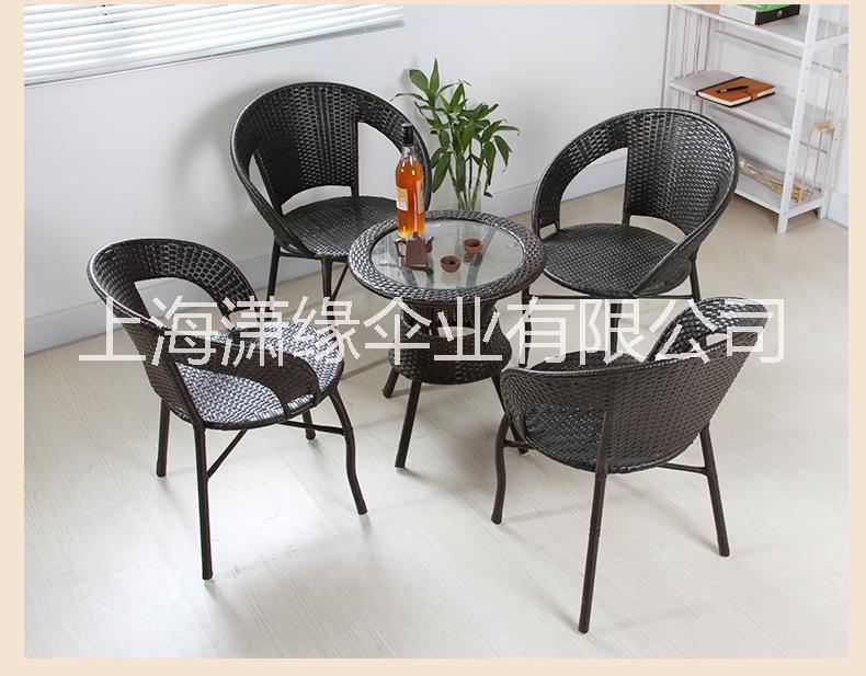 户外休闲桌椅 仿藤家具 一桌两椅 一桌四椅组合 上海仿藤编桌椅