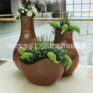 高档商场花盆雕塑图片