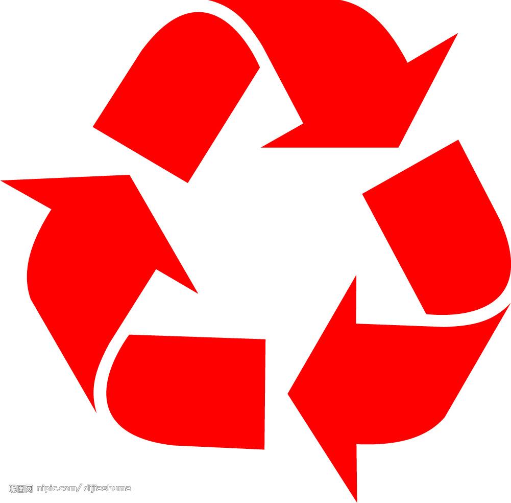 欧洲回收标矢量图