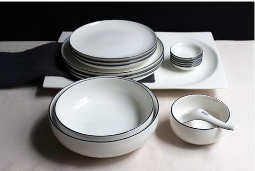ZEROKYCLAN西餐具套装白色早餐盘牛排盘汤碗米饭碗A等 原创品牌 白色早餐盘牛排盘汤碗米饭碗