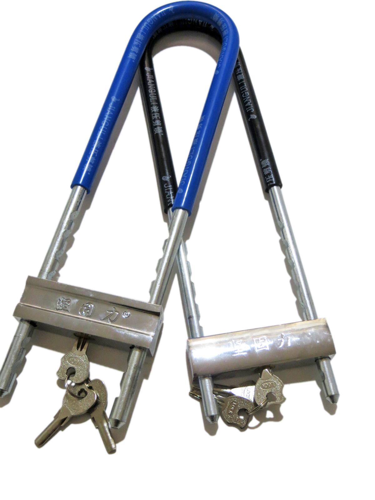 厂家直销502玻璃门锁商铺门锁摩托车锁加长u型锁加工订做门锁 玻璃门U型锁供货商