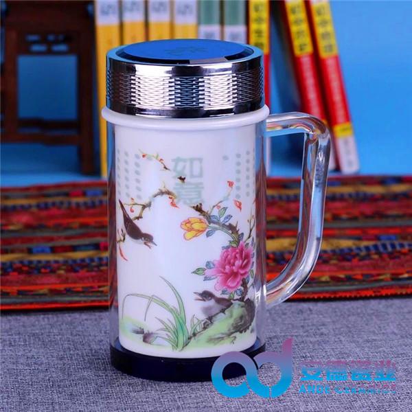 景德镇陶瓷茶杯 景德镇陶瓷茶杯价 定做礼品陶瓷茶杯