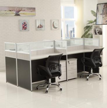 办公家具六人四人位职员屏风办公桌椅组合2人4人位员工桌简约现代
