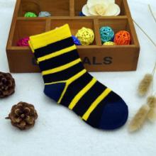 广州精品羊毛童装袜 横条纹小童羊毛袜子 4-6岁羊毛袜子高级定制图片