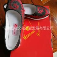 苏维红黑底红凤凰布鞋,八路军新四军红军布鞋,传统民族风老北京布鞋