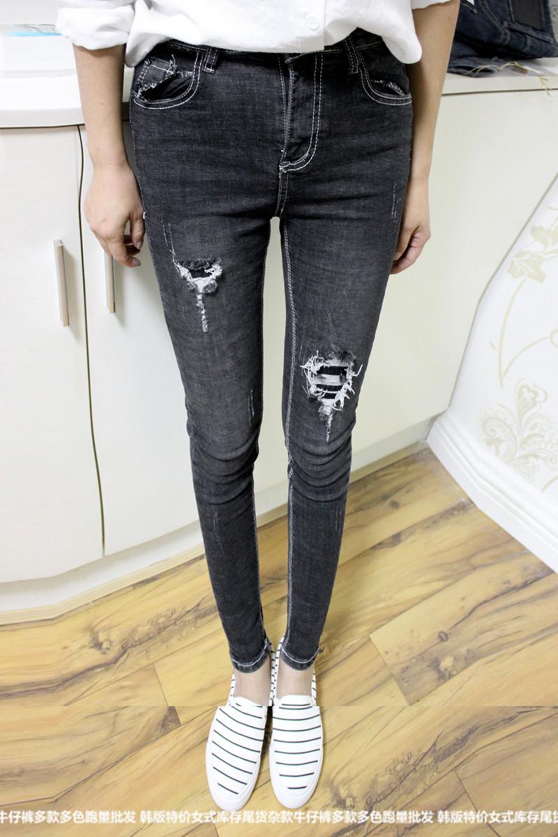 时尚全新女士韩版塑身牛仔裤时尚全新女士韩版塑身牛仔裤批发