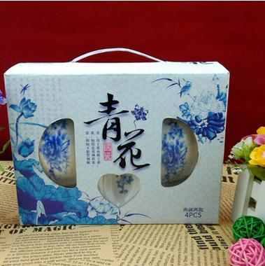 中式创意陶瓷套装餐具  陶瓷青花碗  陶瓷碗碟盘套装厂家批发