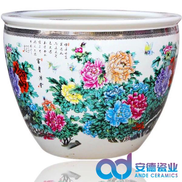 陶瓷大缸,陶瓷养鱼缸,陶瓷水缸