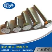 外六角螺丝,304不锈钢外六角螺丝M6*8~120 紧固件厂家批发六角螺杆,揭阳六角螺杆厂家图片