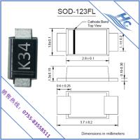 K34二极管SOD-123FL K34贴片二极管