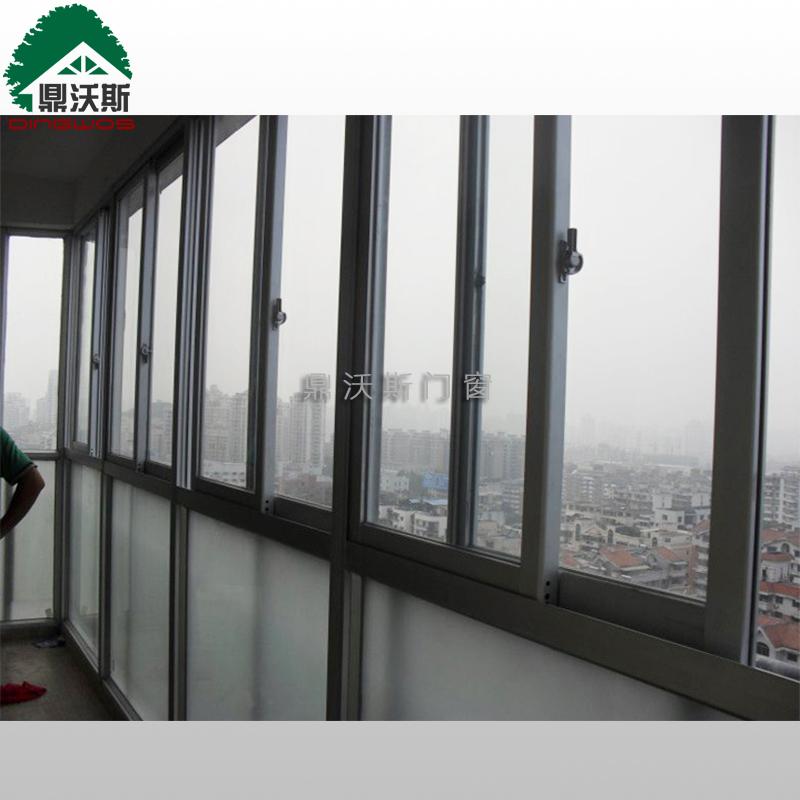 推拉窗价格 双层钢化玻璃窗定制 三轨推拉窗灰色供应