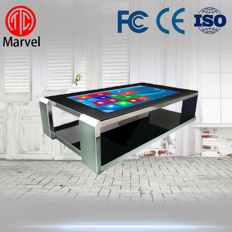 玛威尔42寸不锈钢互动触摸桌 落地式多点触控广告机 深圳厂家直销