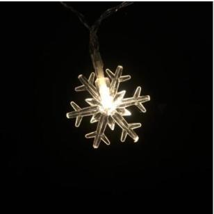 圣诞雪花装饰灯串图片