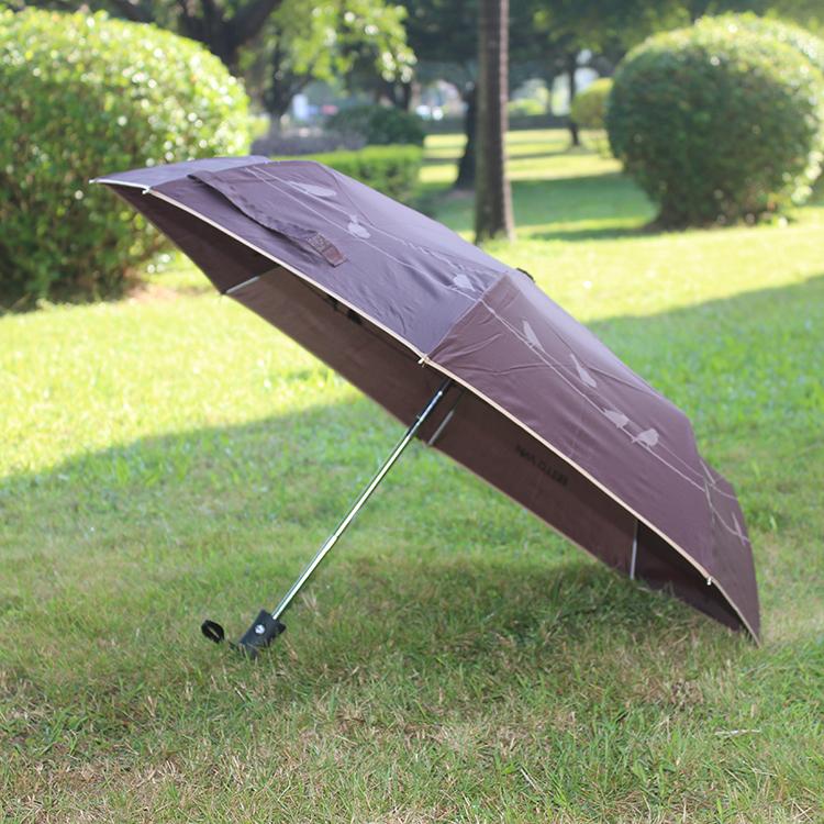 上海钢中棒三折伞促销 广告礼品伞定制LOGO 折叠伞尺寸