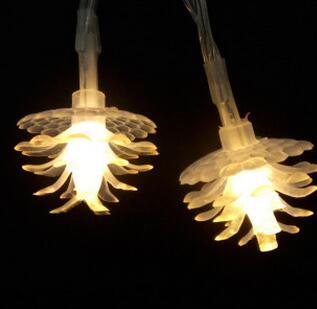 20led彩灯 小松果圣诞树装饰灯 松花电池灯串 闪灯批发