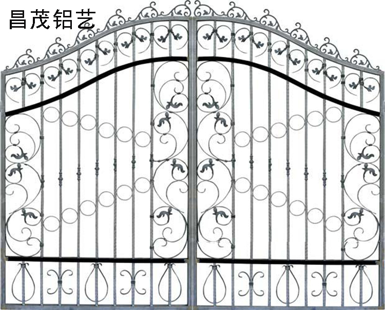 庭院大门供应青岛烟台威海天津铝艺大门别墅大门围墙铝大门欧式铝艺