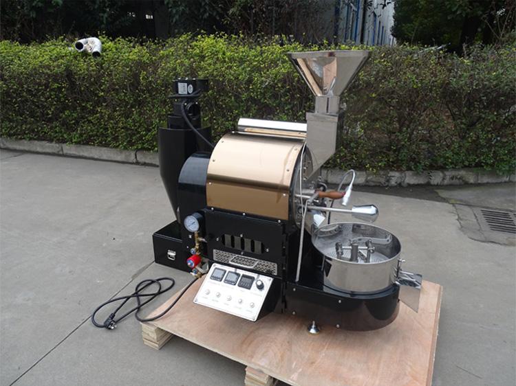1公斤咖啡烘焙机 半直火半热风咖啡烘焙设备南阳东亿
