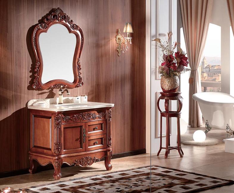 成都橡木红橡家具浴室柜定做 成都家具浴室柜定做 四川成都家具浴室柜
