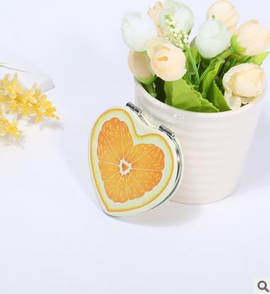 韩国时尚定制心型化妆镜梳妆镜定制款迷你可折叠小镜子