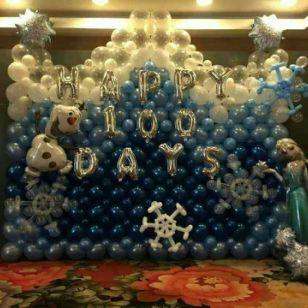 北京生日寿宴气球布置,宝宝宴气球图片