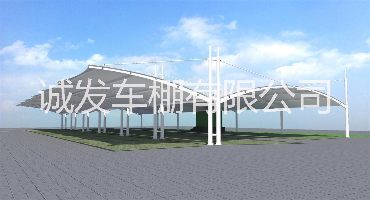 上海工厂膜结构车棚雨棚安装