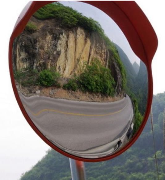 广角镜安全凸面镜转弯镜防盗镜安装 河南润邦pc广角 润邦广角镜面pc塑料镜背ABS