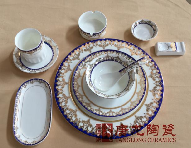 景德镇定做陶瓷餐具厂家 陶瓷餐具图片定制加LOGO