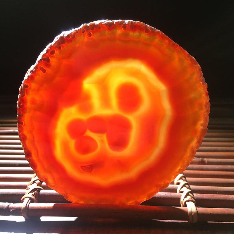 彩色玛瑙石片玛瑙原石切片 汗蒸房材料