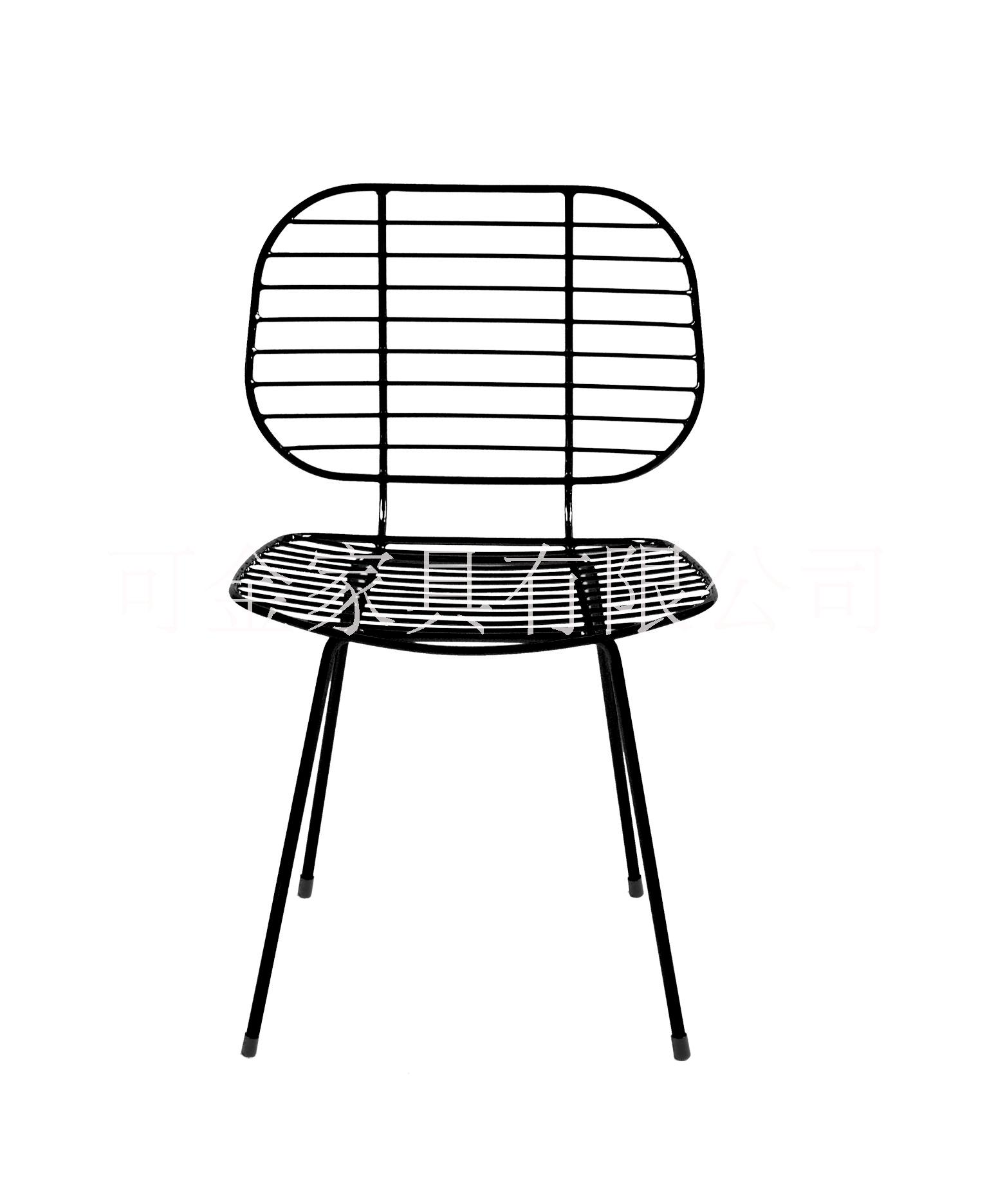 可金家具铁线金属餐椅 北欧铁艺镂空椅 家用创意金属餐椅批发图片