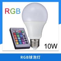 厂家供应 LED灯泡 RGB球泡灯 3W 七彩遥控红外调光彩灯 图片|效果图