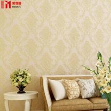卧室客厅背景墙无纺布3d立体墙纸自粘欧式精压天花板壁纸自贴图片