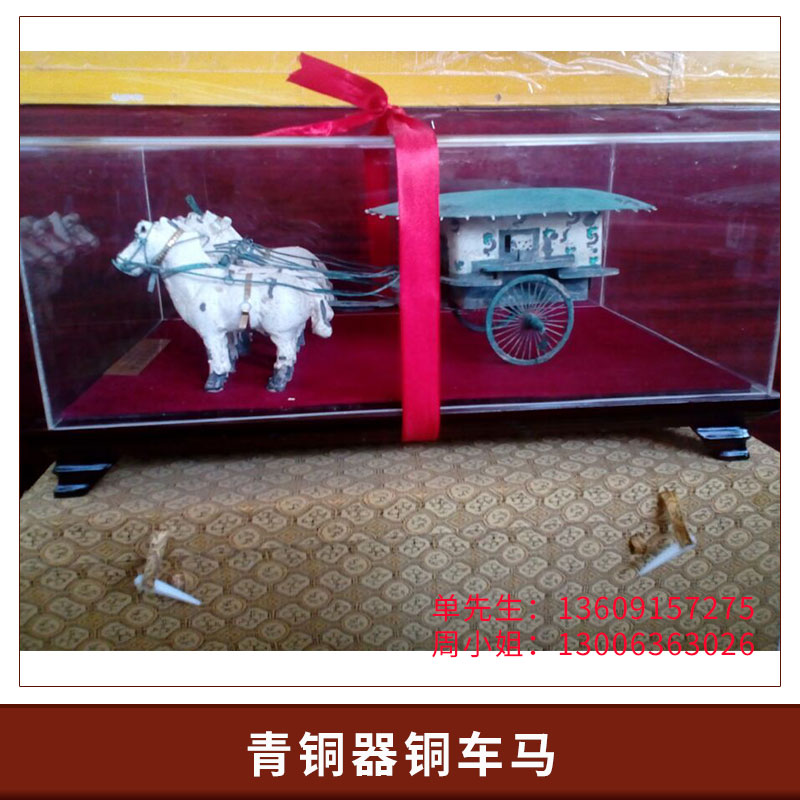 厂家定制金属摆件青铜器铜车马 天子驾六铜车马工艺品 仿古道具装饰