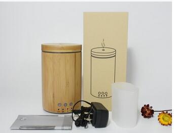 亚马逊爆款100ML竹筒香薰加湿器环保木制品加湿香薰复古工厂直销