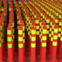塑料交通警示柱 道路标志柱警戒杆