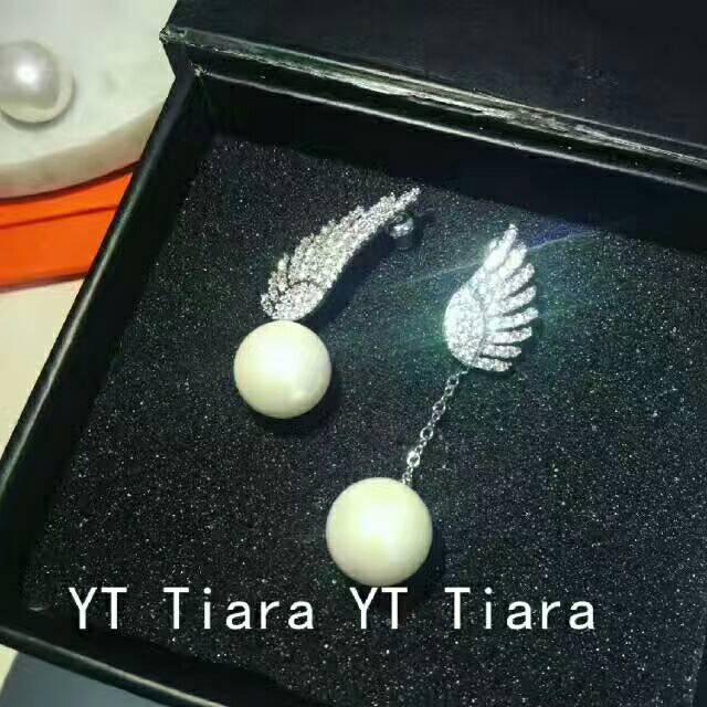 珍珠吊坠长款耳环