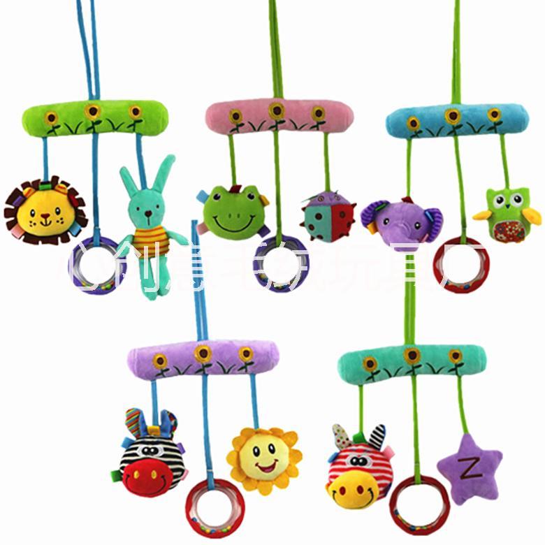 婴幼儿宝宝玩具批发创意儿童毛绒 新生儿床铃车挂婴儿玩具0-3岁 婴儿毛绒玩具