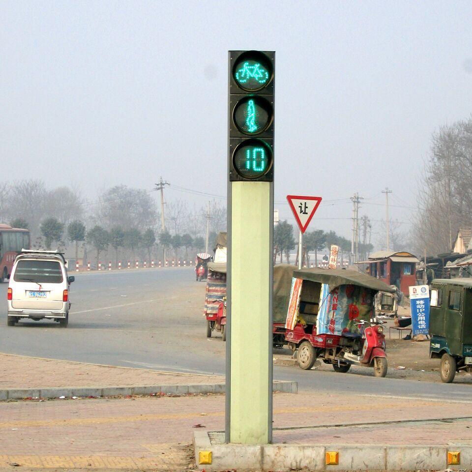 太阳能红绿灯 交通信号灯红绿灯驾