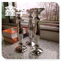 水晶烛台 家居摆件创意高硼硅条纹玻璃烛台 玻璃工艺品水晶烛台
