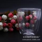 玻璃工艺品高硼硅捣塘双层杯 耐热玻璃茶具厂家 捣塘双层玻璃杯定制
