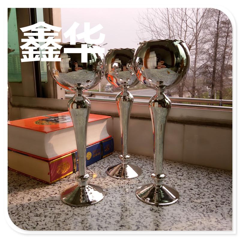 欧式古典烛台 工艺玻璃烛台婚庆摆件  欧式高脚创意玻璃烛台定制