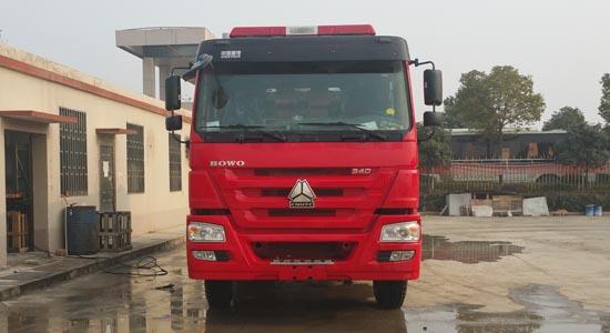 重汽豪沃12吨泡沫消防车销售