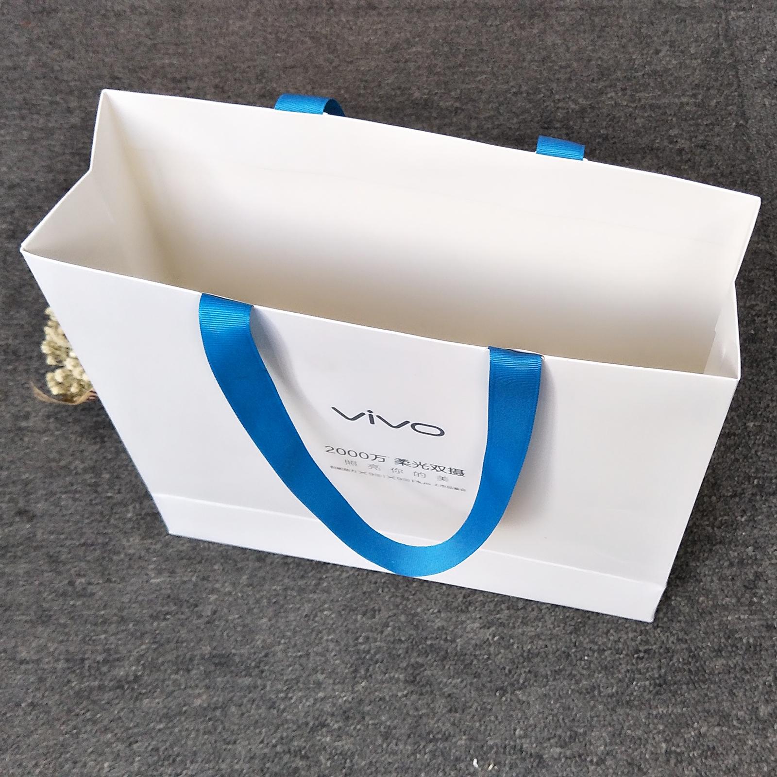 广州VIVO手机手提袋 礼品袋 白卡纸袋 专业定制 高端印刷团队