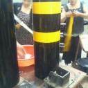 加厚钢管警示柱加油站防撞柱钢