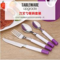 不锈钢便携餐具批发勺子刀叉套装 家居烟支柄小勺子礼品餐具定制