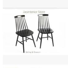厂家直销实木竖条靠背欧美田园风温莎椅实木椅子休闲椅餐椅咖啡椅批发