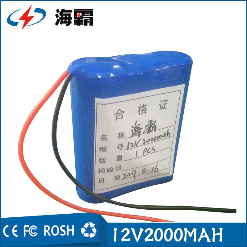 检测照明医疗舞台灯11.1V12V锂电池组三串18650三元锂电池玩具车